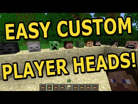 How to: Add Player Heads to Minecraft. Super Easy!