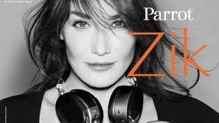 Carla Bruni behind the scenes of Parrot Zik ad