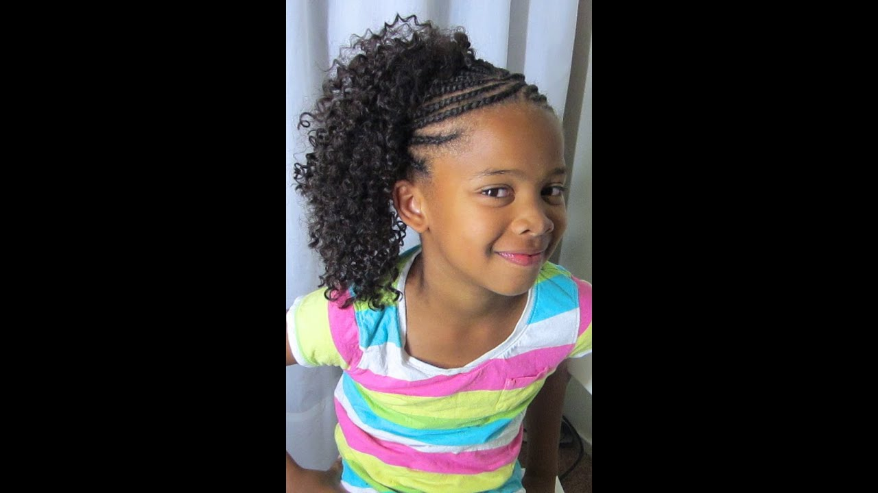 Crochet Hair Styles For Little Girl : Crochet Braids!!! (Kids Style) - YouTube