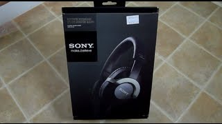 First Look Sony MDR-ZX700 headphones unboxing