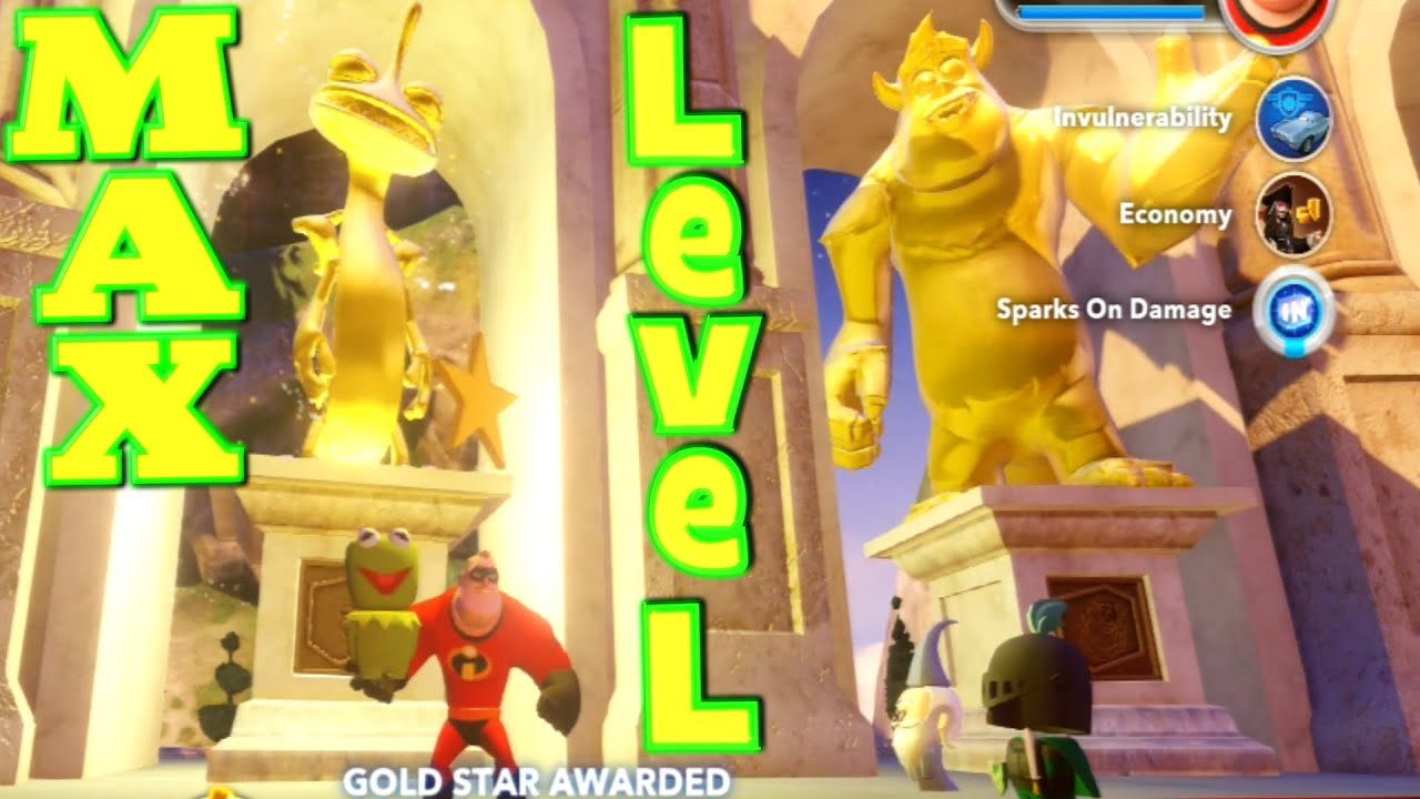 Disney Infinity Max Level 17 Characters with Gold Statues ...