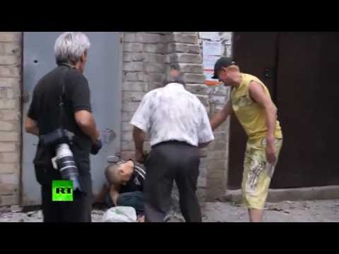 GRAPHIC: Death and despair in Slavyansk after Ukraine army shelling