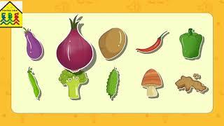 Learn names of vegetables for kids, preschool, kindergarten toddlers