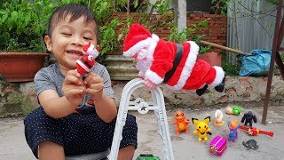 Baby Play With Santa Claus To Learn Animal Names ❤ ChiChi ToysReview TV ❤ Toys For Kids