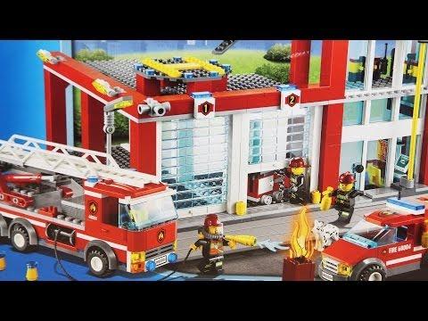 Fire Station / Remiza Strażacka - 60004 - Lego City - www.MegaDyskont.pl - sklep z zabawkami