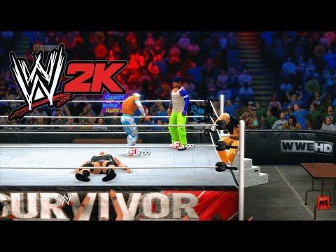 WWE 2K14 Jeff Hardy Tag Match Sin Cara Rey Mysterio Tensia Table Elimination Tornado unlock gameplay