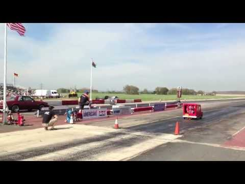 Worlds Fastest Postman Pat Van VS Ford Mustang (Fox Body) Drag Race @ York Raceway