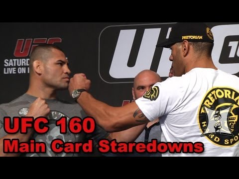 UFC 160 Velasquez vs Bigfoot 2 Main Card FaceOffs HD  Complete  Unedited
