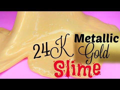 DIY 24K Gold Metallic SLIME