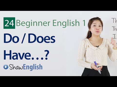 English Grammar:  Do / Does Have Questions