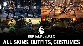 Mortal Kombat X: All Skins / Outfits / Costumes (see description for update)