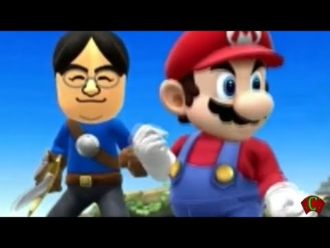 Super Smash Bros 4 'E3 2014 Trailer' Mii Reggie vs iwata (WII U / 3DS Gameplay) 【All HD】 Amiibo