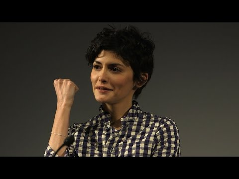 Michel Gondry and Audrey Tautou at SCI FI LONDON
