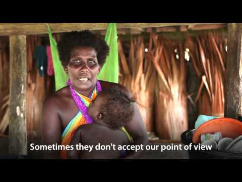 Men are looking down on women. Solomon Islands—thinkEQUAL