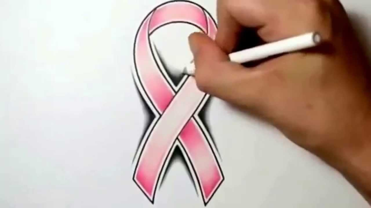 3d Cancer Ribbon Drawing How to Draw a Cancer Ribbon