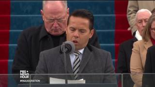 Rev. Samuel Rodriguez delivers a prayer at Inauguration Day 2017