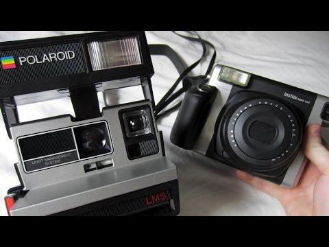 fujifilm instax wide 300 and polaroid camera comparison