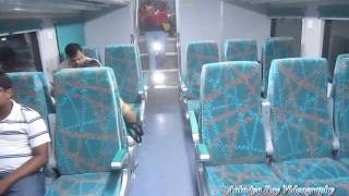 Inside Double Decker Coach : Dhanbad Howrah AC Double Decker Express