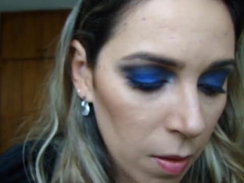 Maquiagem azul /  para o dia e noite
