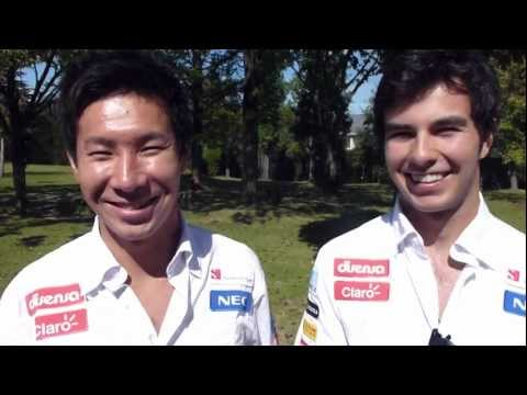 Checo greets Homeless World Cup Mexico 2012 - Sauber F1 Team