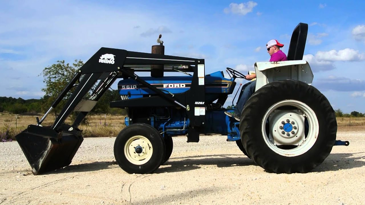 Ford 5610 Tractor With Loader Demo Video Youtube
