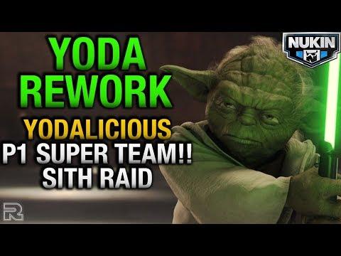 Grand Master Yoda Rework Creates YODALICIOUS! P1 Sith Raid Team! Star Wars: Galaxy of Heroes SWGOH