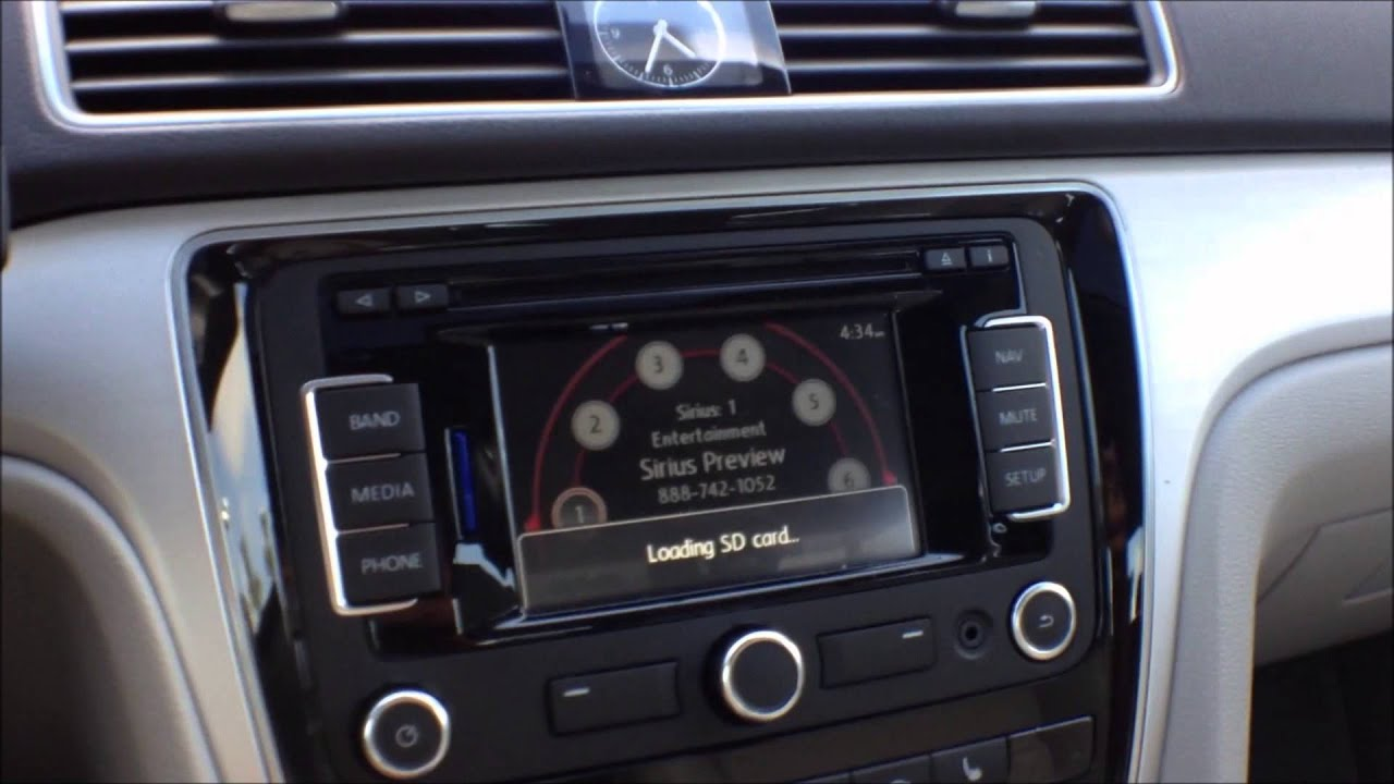 How To Play Music From An Sd Memory Card In Vw Rns315 Navigation Stereo Youtube
