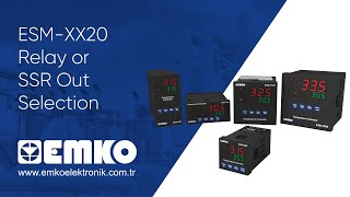 Emko Elektronik ESM-XX20 Relay or SSR Out Selection