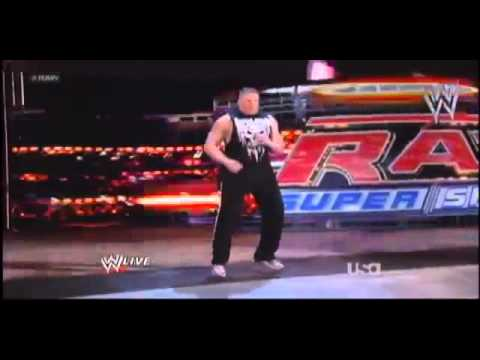 WWE Raw 4/2/12 Brock Lesnar Returns to WWE