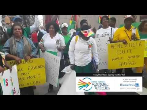 Guyanese in New York protest Venezuelan border claims