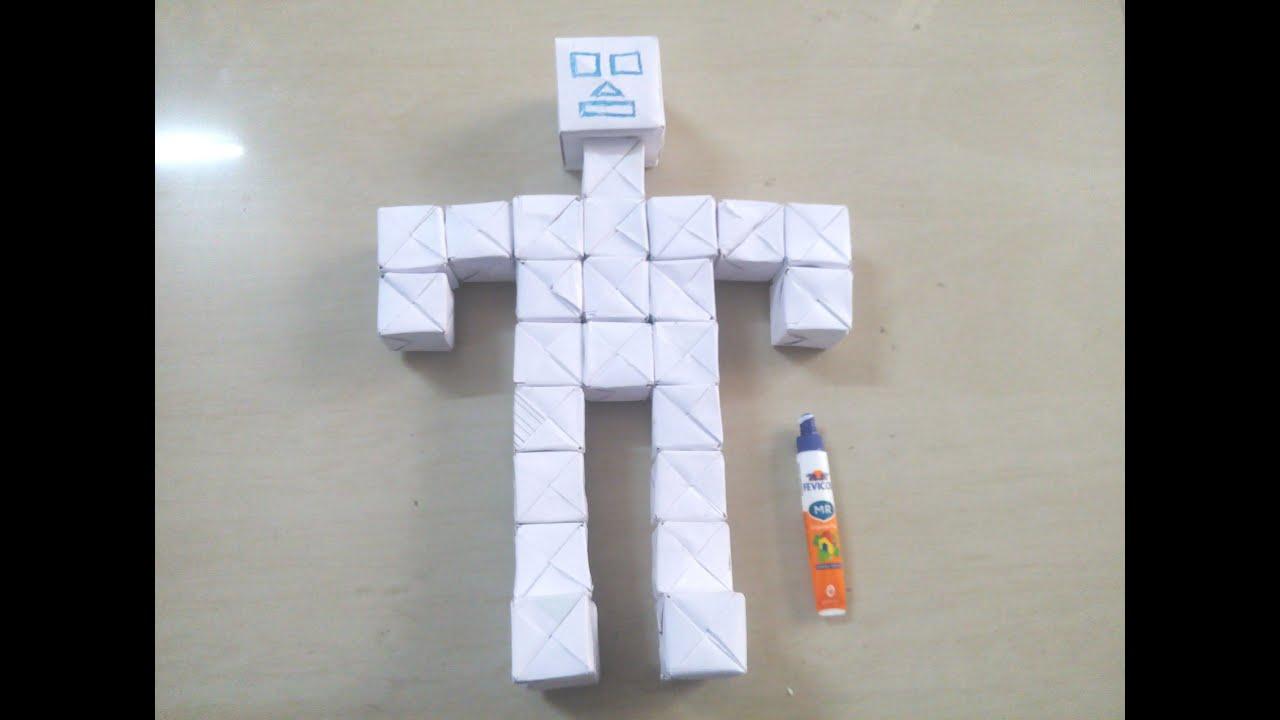 Как сделать робота из бумаги: схема скачать 5