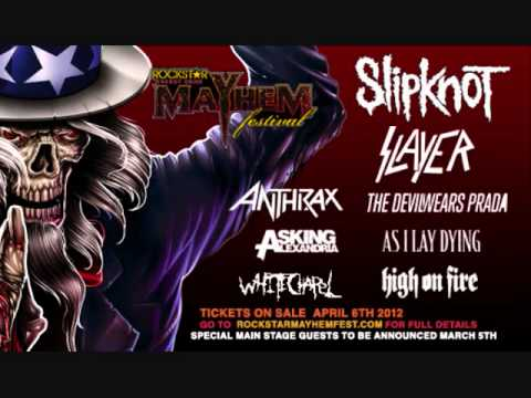 Rockstar Energy Drink Mayhem Festival line-up may have been leaked