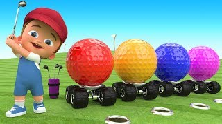 Little Baby Fun Play Golf Game Learning Colors with Golf Balls 3D for Kids Children Toddlers Games