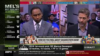First Take   Stephen A. Smith reacts to Clippers def. Warriors 129-121, Warriors lead 3-2