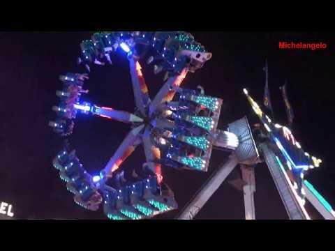 Feria de sevilla 2011 - (HD 720) - Top Gun - Noria  - Boomerang - Gigant  - Michelangelo 2011