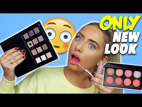 FULL FACE Using ONLY NEW LOOK Makeup?! Cheap Products TESTED!! 😱
