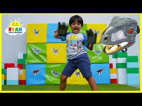 Giant Smash Surprise Jurassic World Dinosaurs Toys!!!