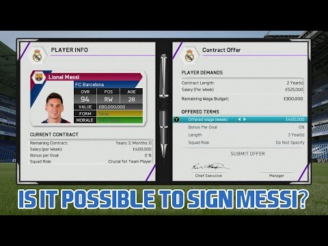 FIFA 16 Career Mode - Is it possible to sign Lionel Messi?