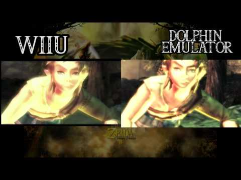 Zelda Twilight Princess WiiU VS Dolphin Emulator HD