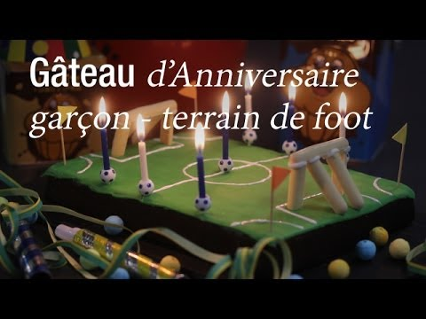g teau d 39 anniversaire terrain de foot dessert anniversaire cuisineaz youtube. Black Bedroom Furniture Sets. Home Design Ideas