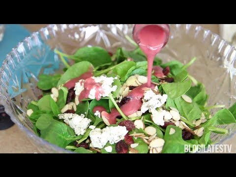 Sweet & Savory Cranberry Spinach Salad | FOOD Bites