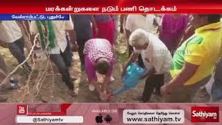 ஏரியை ஆய்வு செய்து மரங்கள் நடும் பணியை தொடங்கிவைத்தார் கிரண்பேடி | Velrampatti | Kiran Bedi