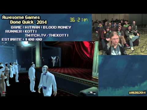 Hitman Blood Money :: Live Speed Run (0:51:06) [pc] By Kotti #agdq 2014 video
