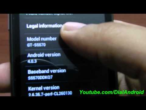 CyanogenMod 9 (CM9) Android 4.0 ICS Running on Galaxy Mini POP CM9