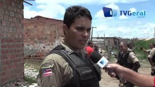 Policiais Militares realizam operação na Favela do Arreia em Feira de Santana-Ba