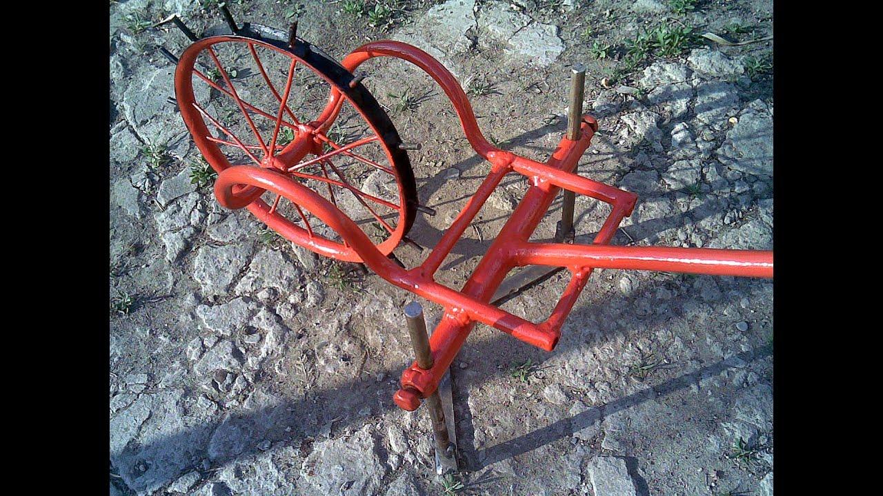 Плоскорез на колесе своими руками 33