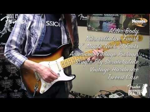 Fender American Vintage '57 Stratocaster Reissue - 2 Colour Sunburst Demo @ Nevada Music UK v2