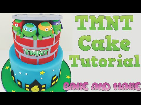 How to make a TMNT birthday cake tutorial Bake and Make with Angela Capeski How to make a cake
