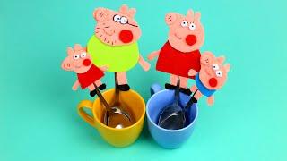 Семья Свинки Пеппы -  магниты из фетра своими руками