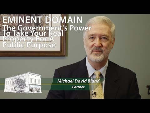 Charlotte Attorney Dave Bland on Eminent Domain Video